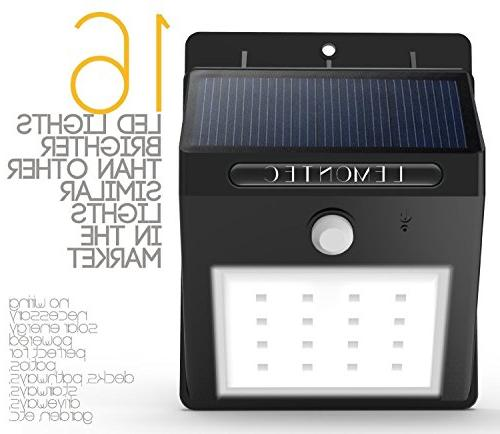 Solar Waterproof Wireless Security Motion Lights For Wall Yard Deck, Wall Security Pack
