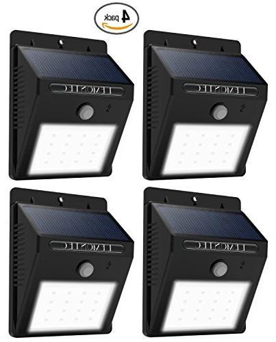 Solar Lights, Waterproof Security Motion Sensor Lights For Wall Yard Wall Light Security Night Lights Pack
