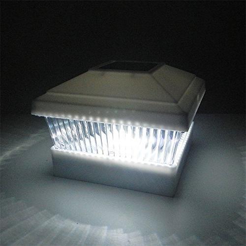iGlow Pack Outdoor Garden 5 x 5 Deck Light Landscape Lamp PVC Wood