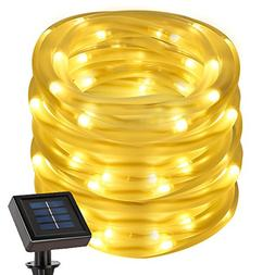 LE 22.97ft Solar Rope String Lights, Waterproof IP55, 50 LED