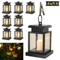 LED Candle Lantern Outdoor Hanging Solar Lights Lighting & D