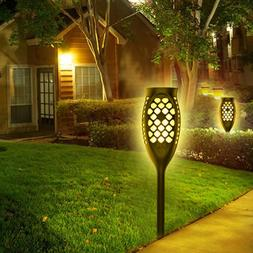 LED <font><b>Solar</b></font> Flame Lamp Waterproof Flicker