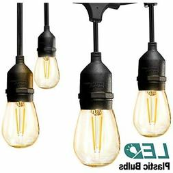 LED Outdoor String Lights 48FT With 2W Dimmable Edison Vinta