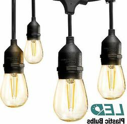 addlon LED Outdoor String Lights 48FT with 2W Dimmable Ediso