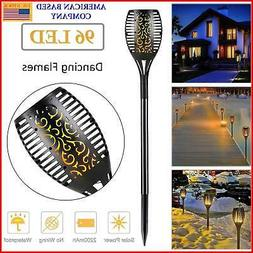 LED Solar Flame Tiki Torch Light Dancing/Flickering Flame/pa