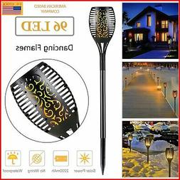 LED Solar Flame Tiki Torch Light Dancing/Flickering Flame La