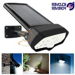LED Solar Flood Light Motion Sensor Security Spot Wall Stree