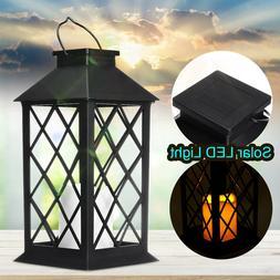 LED Solar Light Lantern Hanging Lamp Yard Patio Landscape Ga