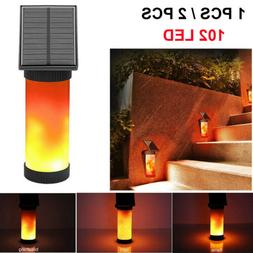 LED Solar Path Torch Dancing Flame Light Flickering Garden O