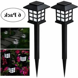 LED Solar Pathway Lights Landscape Outdoor Patio Garden Driv