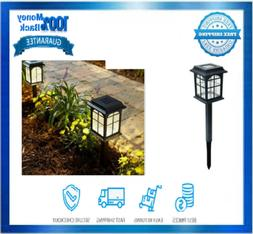 Hampton Bay Led Solar Pathway Lights Square 4-Pack With Seed