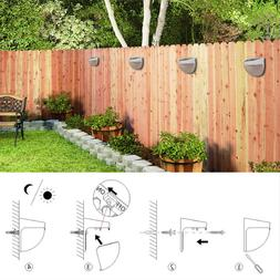 LED Solar Power Garden Wall Mounted Lights Outdoor Fence Lam