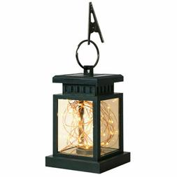 LED Solar Powered Hanging Lantern Lights Outdoor Garden Tabl