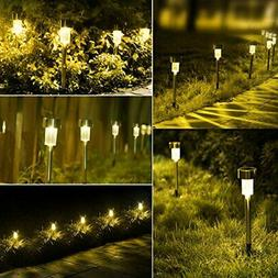 Led Solar Powered Landscape Walkway Lights Outdoor Pathway P