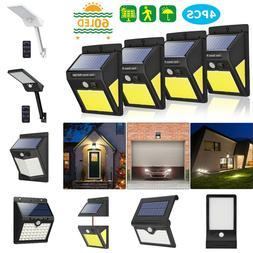 LED Solar Power Wall Light PIR Motion Sensor Security Outdoo