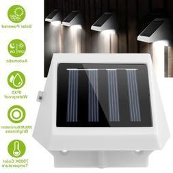 LED Solar Powered Stair Lights Dusk-To-Dawn Waterproof Garde