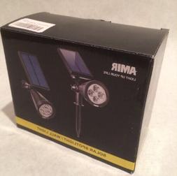 Amir LED Solar Spotlight / Solar Powered Outdoor Wall Light