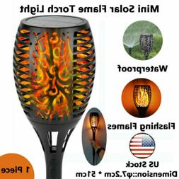 LED Solar Tiki Torch Flickering Flame Torch Light Outdoor Wa