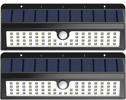 Lemontec Solar Lights, 62 LED Wall Light Outdoor Security Li