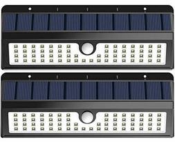 Lemontec Solar Lights, 62 LED Wall Solar Light Outdoor Secur