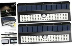 Solar Lights, 62 LED Wall Solar Light Outdoor Security Light