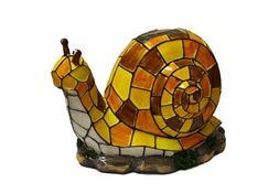 Solar Lighted Snail Accent Light -- Landscape Ornament Produ