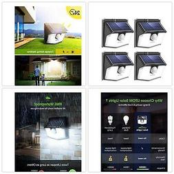 LITOM Lite 30 LED Solar Lights Outdoor, Wireless Easy to Ins