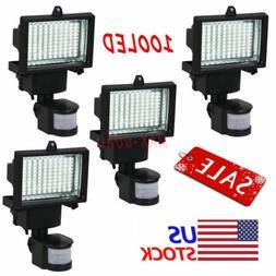 LOT 100 SMD LEDs Black Solar Powered Motion Sensor Security