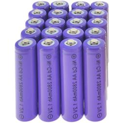 LOT 2-24PCS 1.2V NiCd AA 2800mAh Rechargeable Durable Batter
