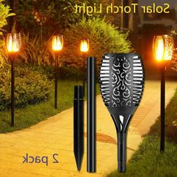 LOT 20 Solar Torch Flicker Flame Lamp 96 LED Power Garden Ti