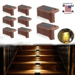Lot Solar Powered LED Deck Lights Outdoor Path Garden Stairs