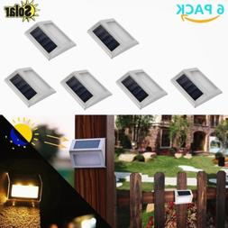 LOT Solar Powered Stainless Steel Staircase Path Floor White