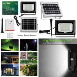 LTE 60 LED Solar Lights Outdoor Security Floodlight 300 Lume