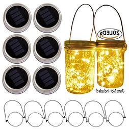 SmilingStore Mason Jar Lid Solar String Lights, Warm White 2