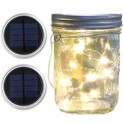 Mason Jar Lights Wide Mouth,Waterproof Outdoor Solar Powered