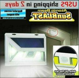 Solar Motion Sensor Light, JUSLIT 74 COB LED Solar Lights Ou