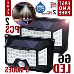 Motion Sensor Light Security Lights Solar Powered Outdoor 10