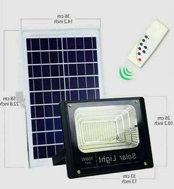 New 100W Solar Powered Street Flood Lights Outdoor Remote Co
