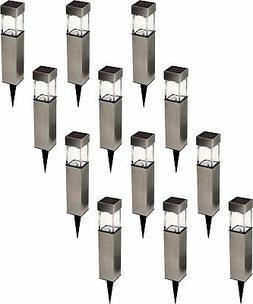 Greenlighting NEW 12 Pack Stainless Steel Solar Rectangular