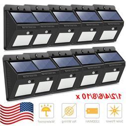 NEW 20 LED Solar Porch & Patio Lights Sensor Motion Wall Lig