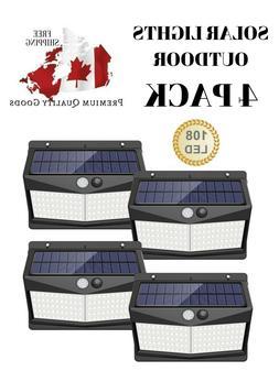 New Solar Lights Outdoor , WATERPROOF Motion Sensor Security
