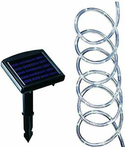NEW Solar Powered 16 ft. Clear Outdoor Integrated LED 5000K