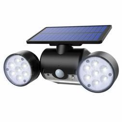 AMIR  Solar Sensor Light Outdoor, Dual Head Solar Spotlight,