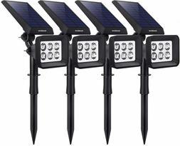 NIB InnoGear Upgraded 6 LED Solar Powered Spotlight 2-in-1 4