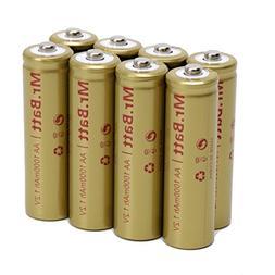 Mr.Batt NiCd AA Rechargeable Batteries for Solar Lights, 100