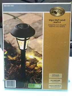Hampton Bay  NXT-1903P-6pk LED Solar Pathway Lights, Bronze