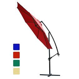 FARLAND 10 ft Offset Cantilever Patio Umbrella Outdoor Marke