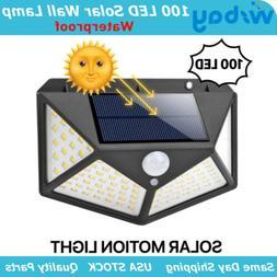 Outdoor 100 LED Solar Wall Lights Security Motion Garden Yar