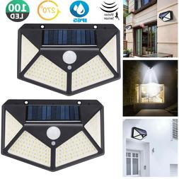 outdoor 100 led solar wall lights security