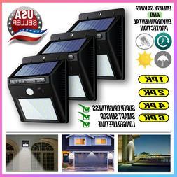 Outdoor 20 LED Solar Wall Lights PIR Power Motion Sensor Gar